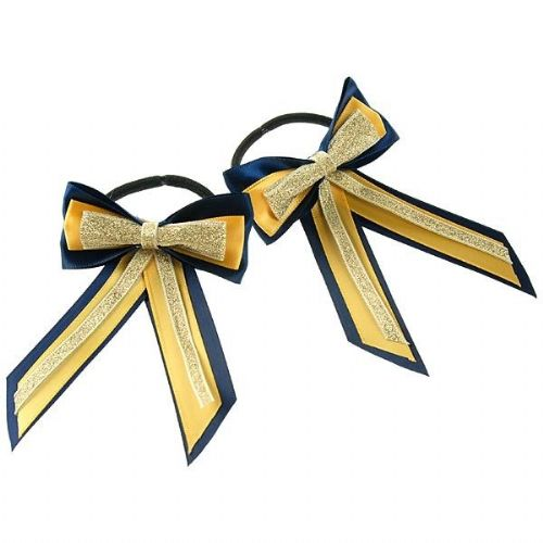 ShowQuest Piggy Bow & Tails in Navy/Sunshine/Gold
